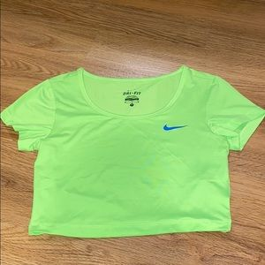 Nike neon crop top